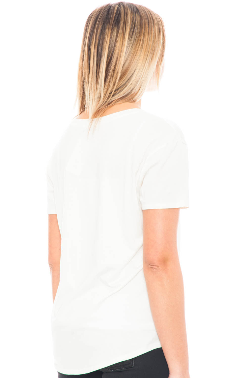 Tee - Save Water Drink Champagne Semi-Sheer Top