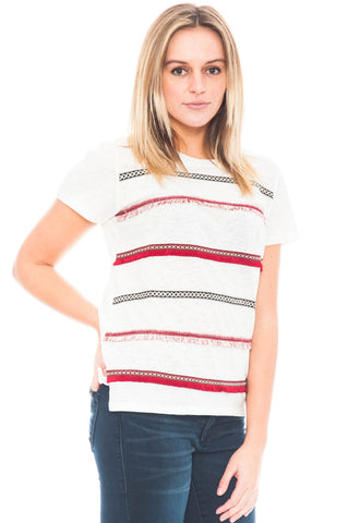 Tee - Stripped Fringe Shirt by Ellison (Final Sale)