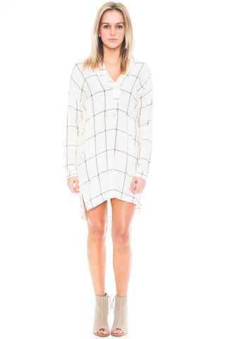 Dress - Tie Waist Plaid Tunic by Lush