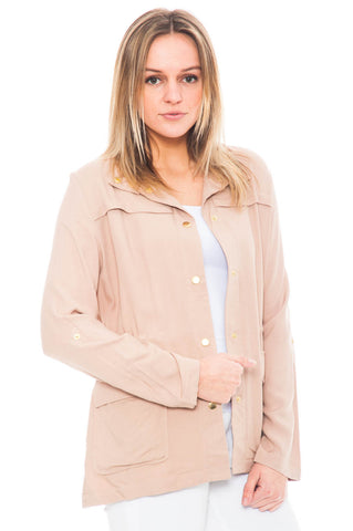 Jacket - Light Weight Anorak jacket with a Cinched waist