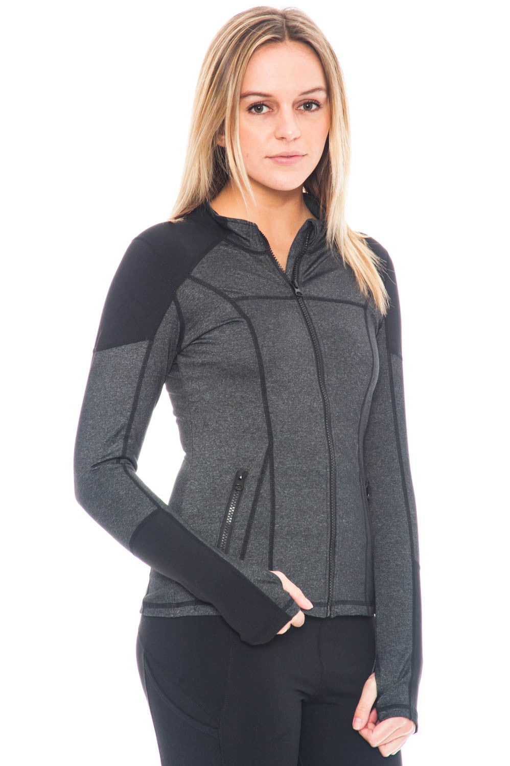 Jacket - Activewear Top with Zipper Details By Motion by Coalition