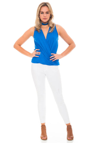 Tank - Envelope Front Choker Top