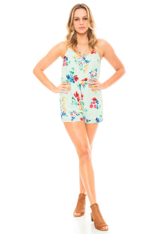 Romper - Floral Cross Front Romper by Everly