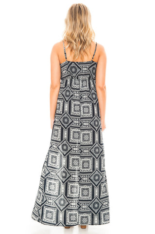 Dress - Printed Maxi With Slit