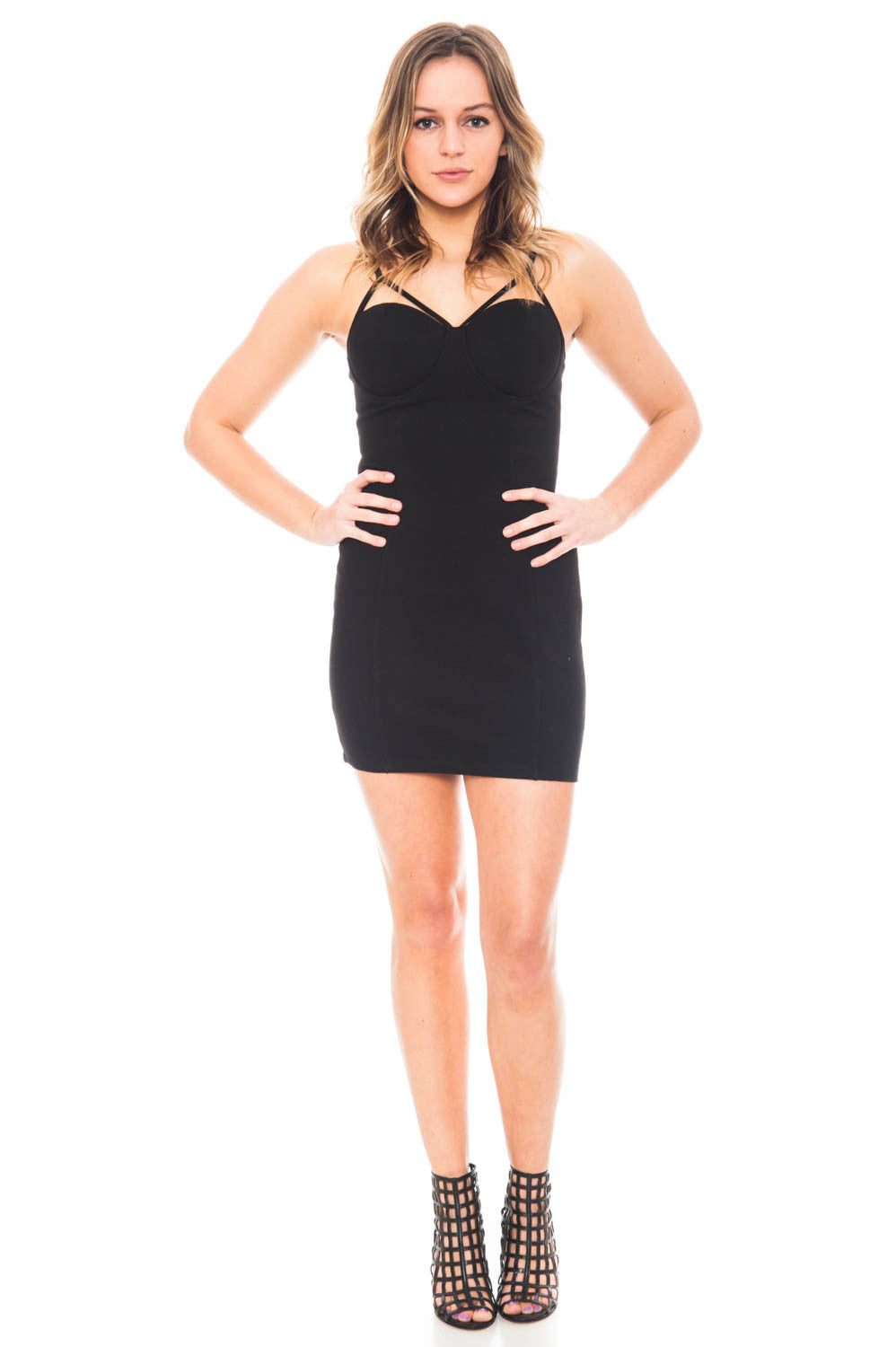 Dress - Sleeveless Bodycon Dress by Lush