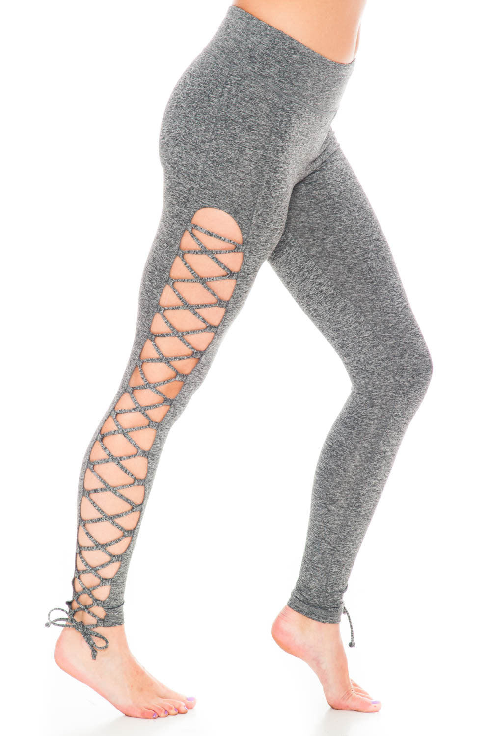 Legging - Lace Up Side Yoga Pant by Motion by Coalition