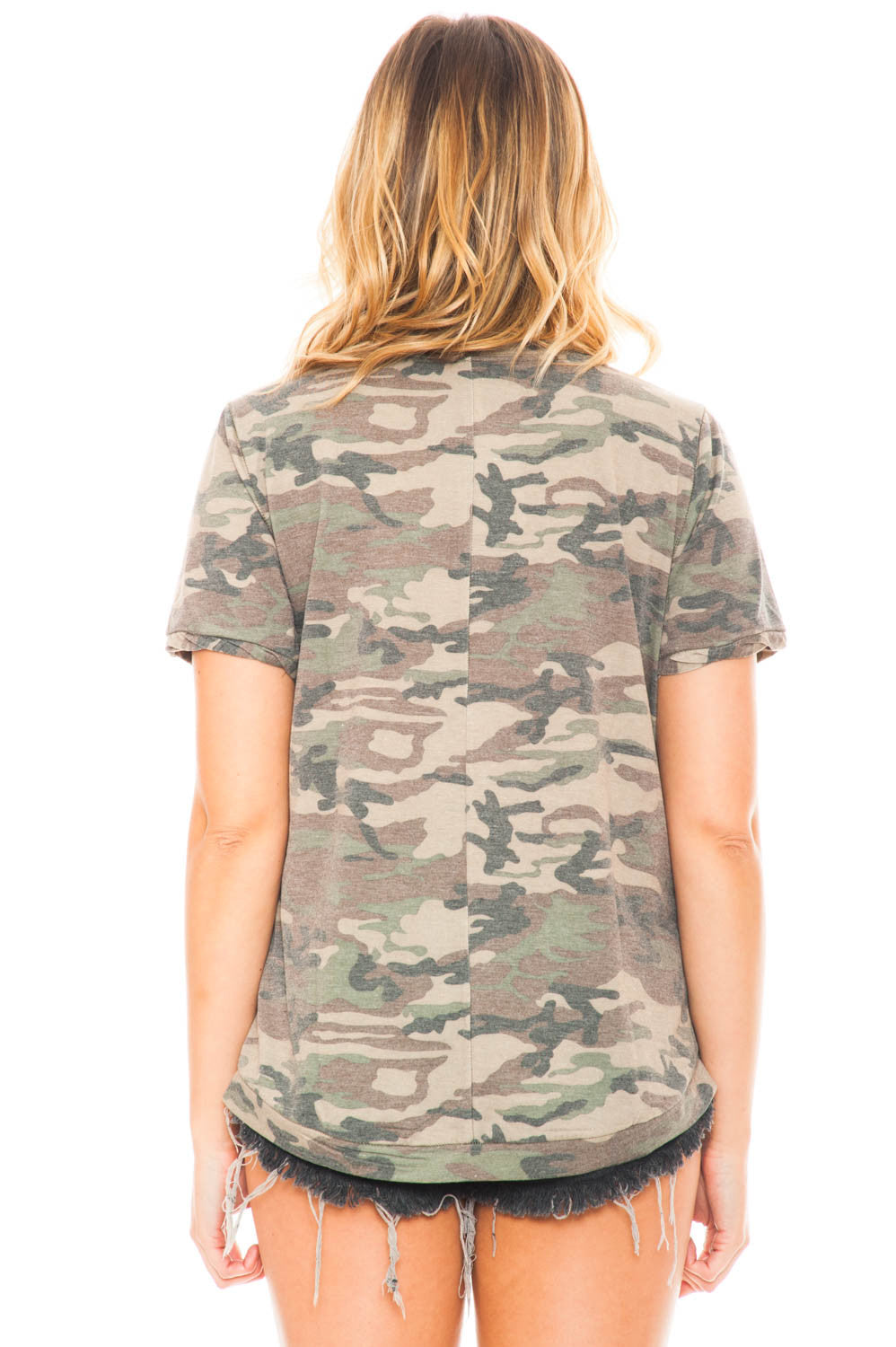 Shirt - Faded Camo V-Neck