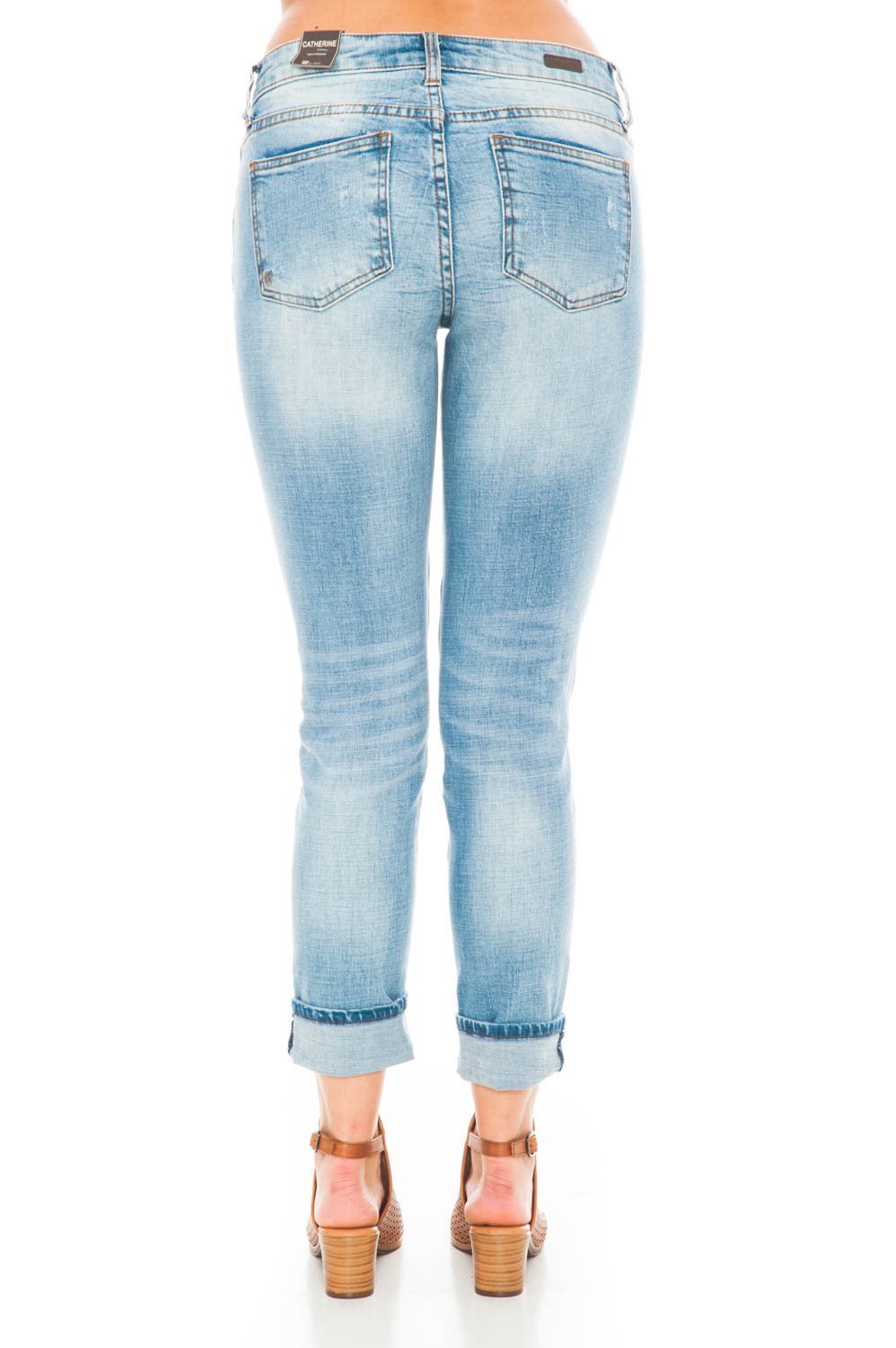 Jean - Catherine Boyfriend Hail Mid-rise by Kut from the Kloth