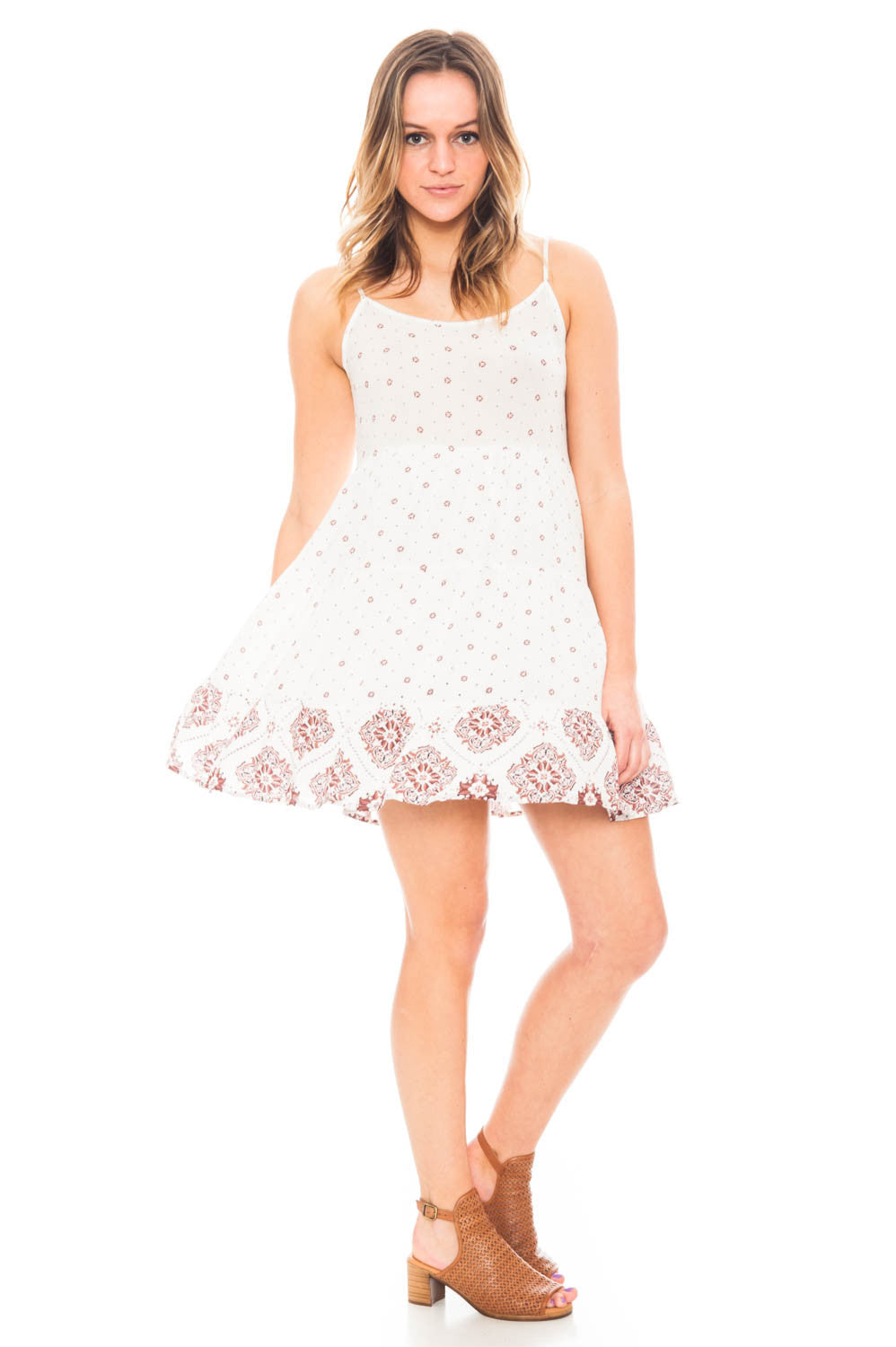 Dress - Printed Tiered Boho dress