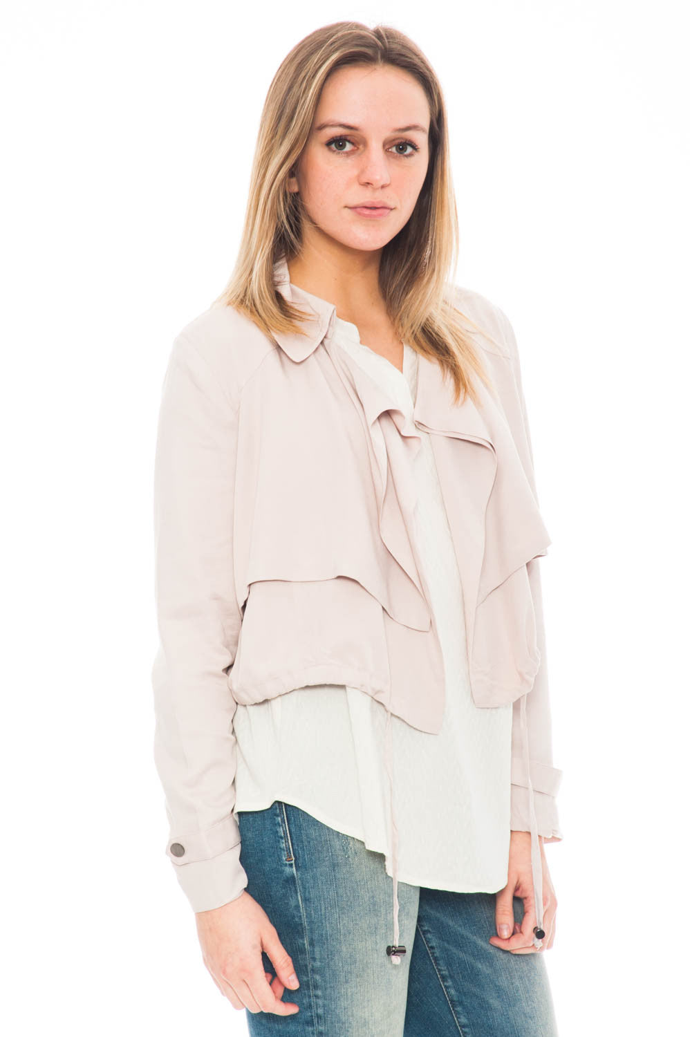 Jacket - Herring by BB dakota overlapped crop jacket