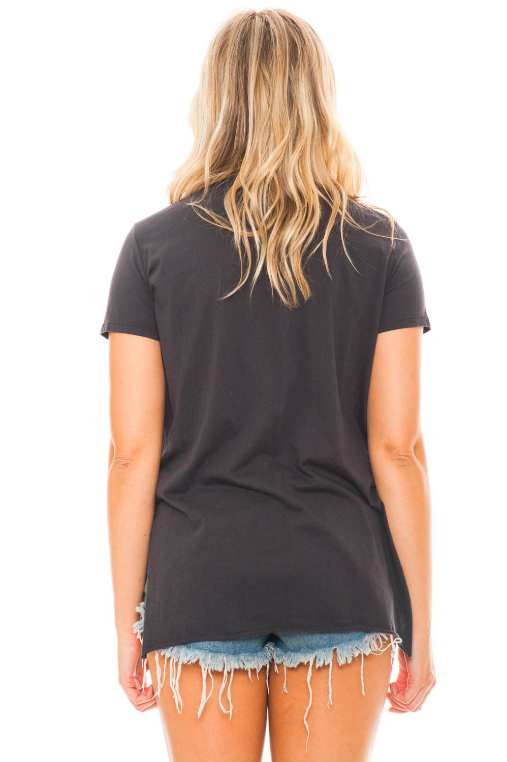Top - Distressed V-neck Tee by Lush