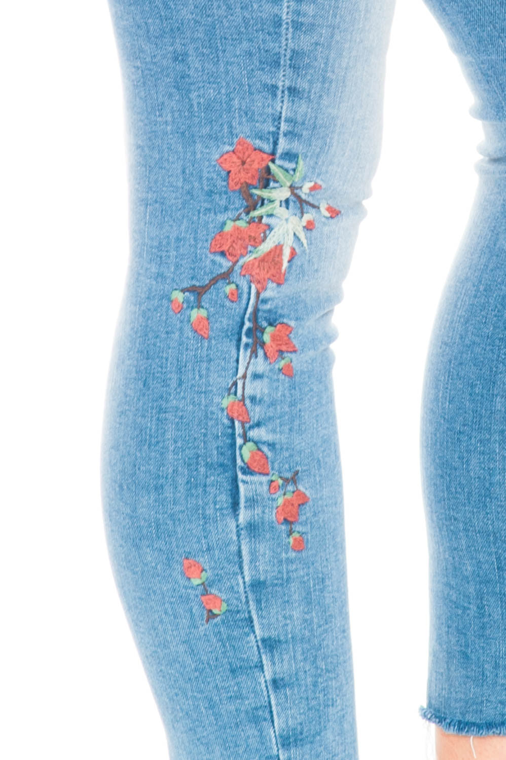 Jean - Adriana Ankle Floral Embroidery By Mavi