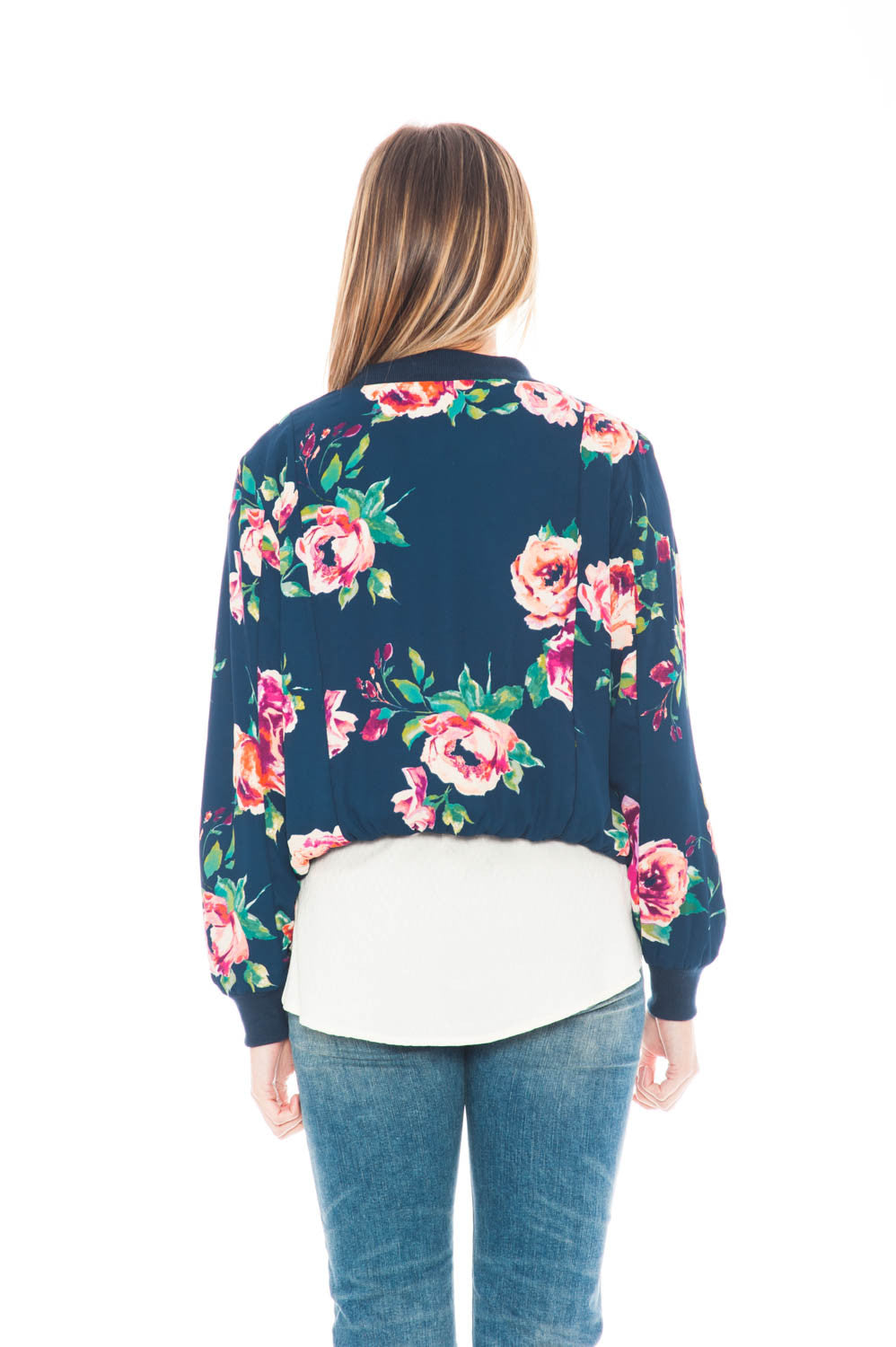 Jacket - Floral Bomber zip up by Everly