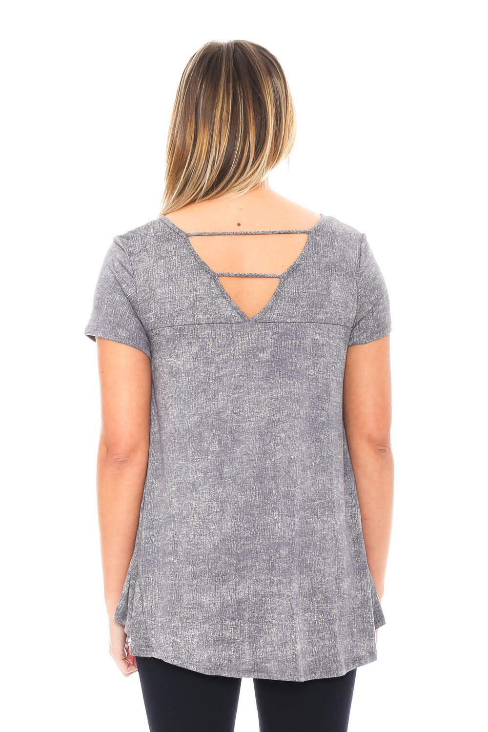 Shirt - High Low with V Back by Paper Crane