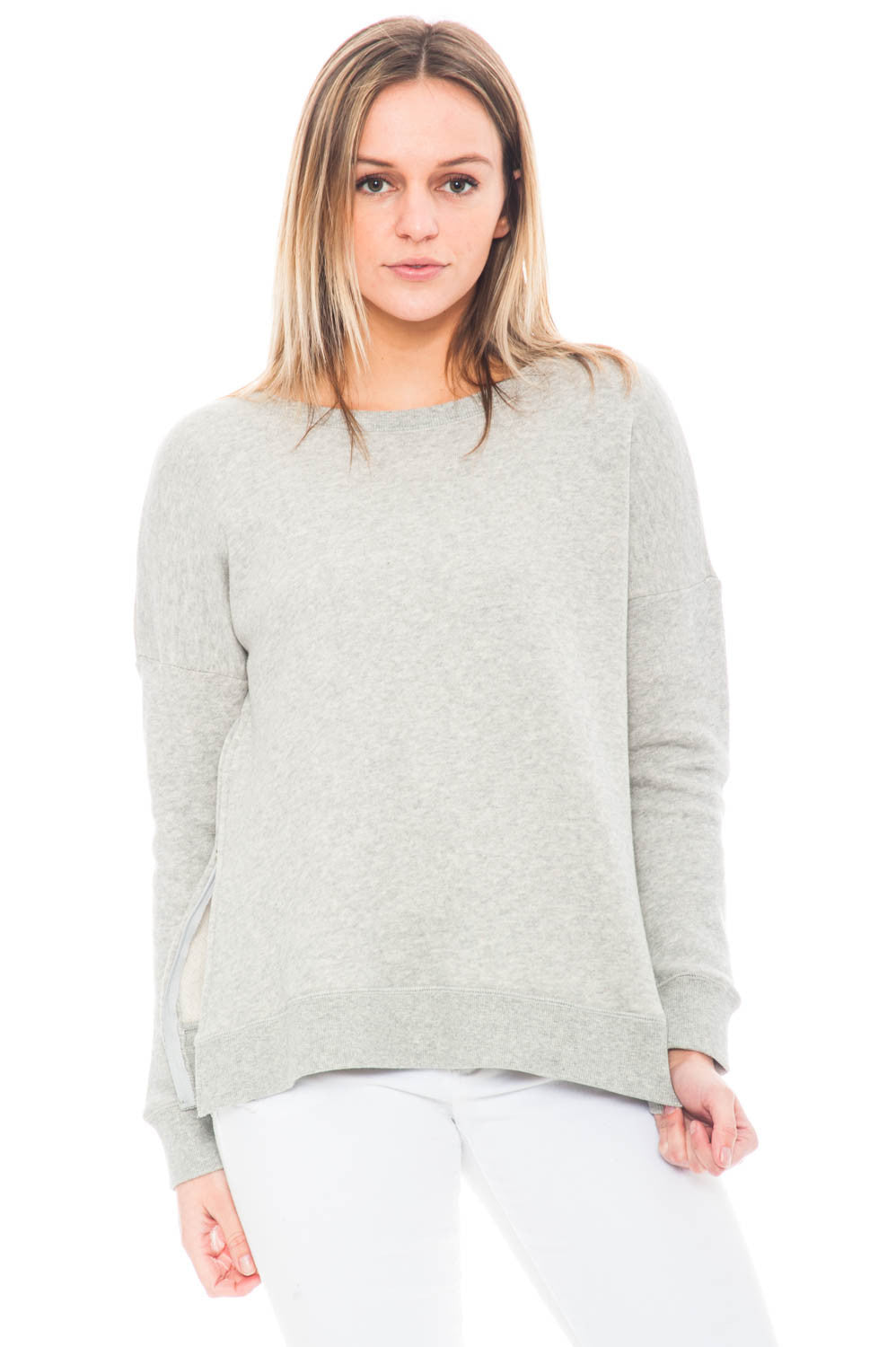 Sweater - Side Zip Mischa Crewneck by BB Dakota
