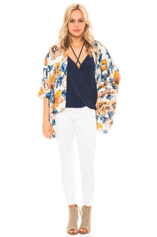 Cardi - Floral Print Kimono by Everly
