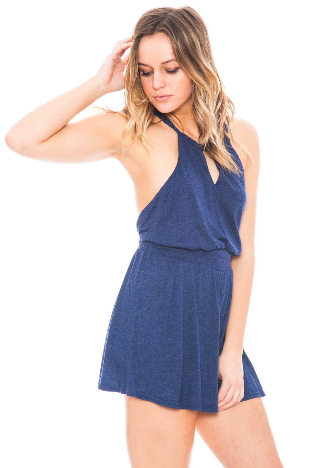 Romper - Keyhole Front Romper with Braided Back Detail