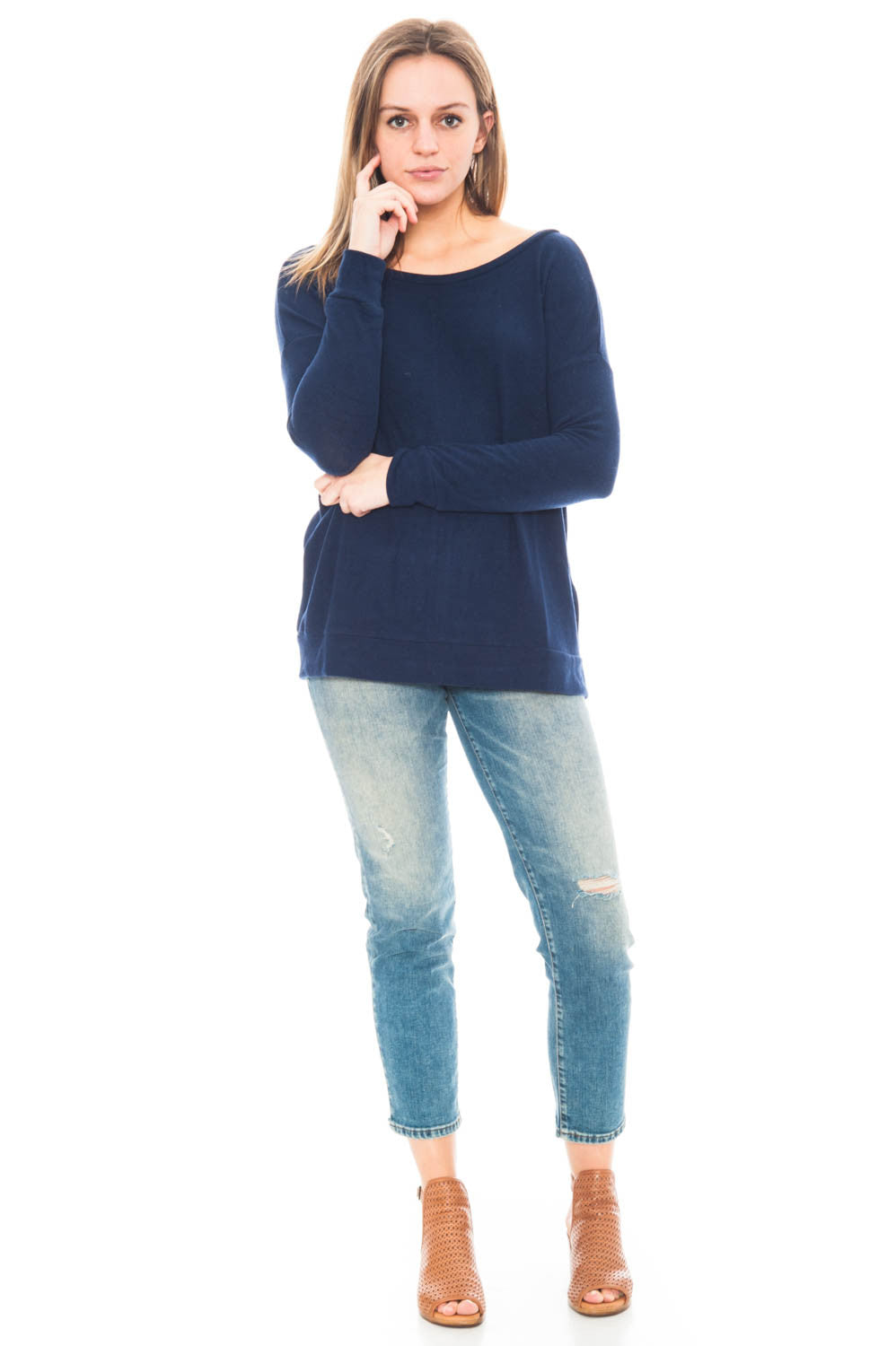 Sweater - Hartman by BB Dakota Top with Back Zipper