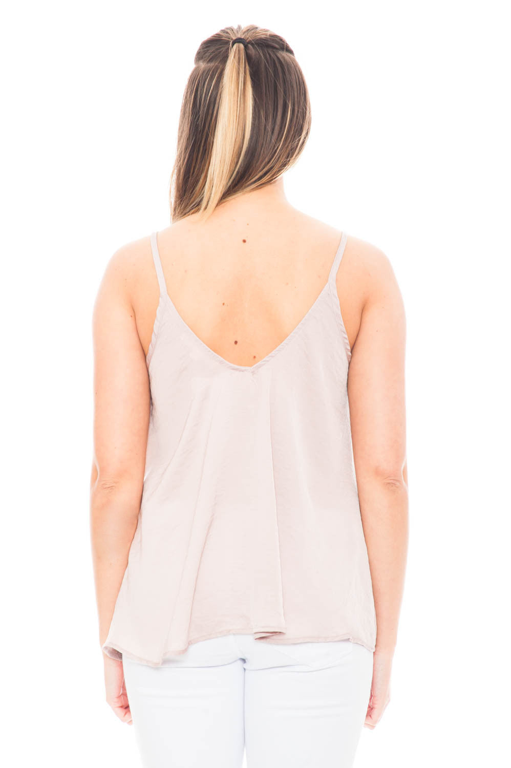 Tank - Satin Cami V-neck Top