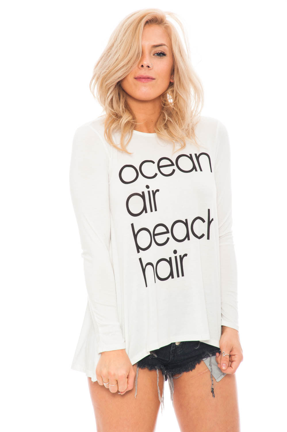 Tee - Ocean Air Beach Hair Top