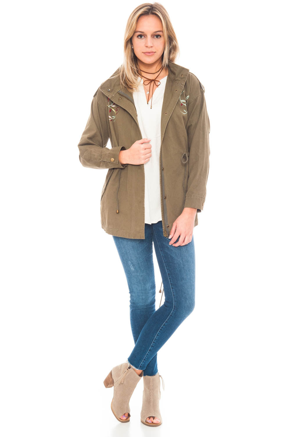 Jacket - Military Embroidered Jacket by En Creme
