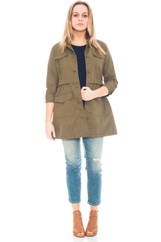 Jacket - Antigone by BB Dakota jacket with a drawstring waist