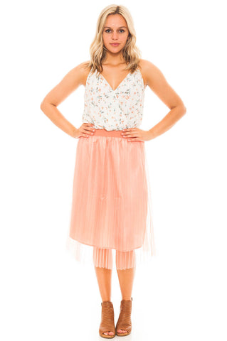Skirt - Tutu Pleated Midi Skirt