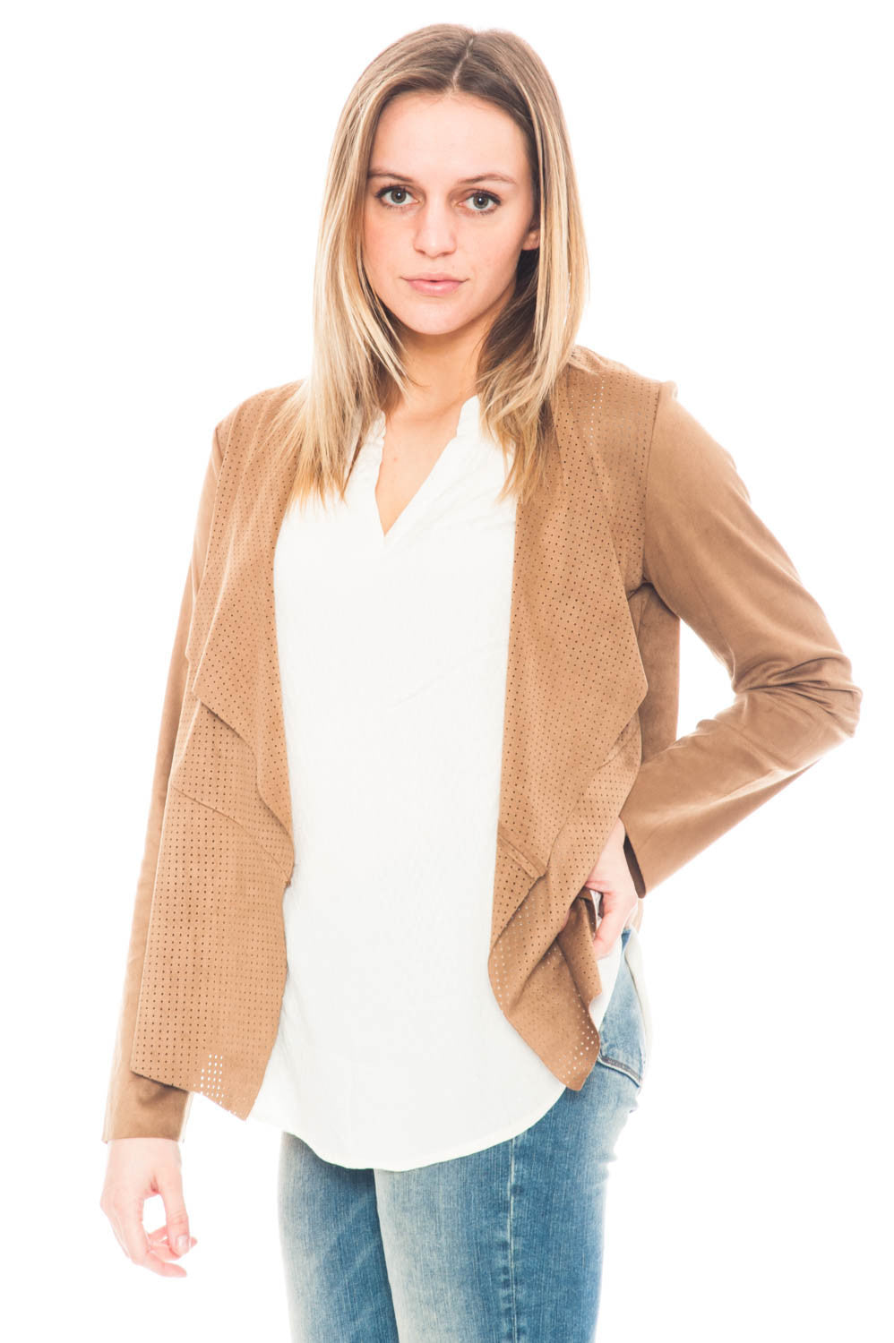 Jacket - Joline by BB Dakota perforated jacket