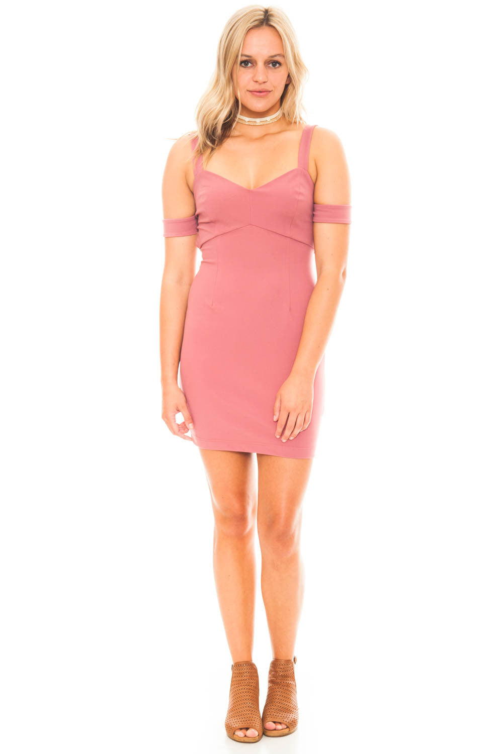 Dress - Bodycon Shoulder Cut-Out Dress by Lush