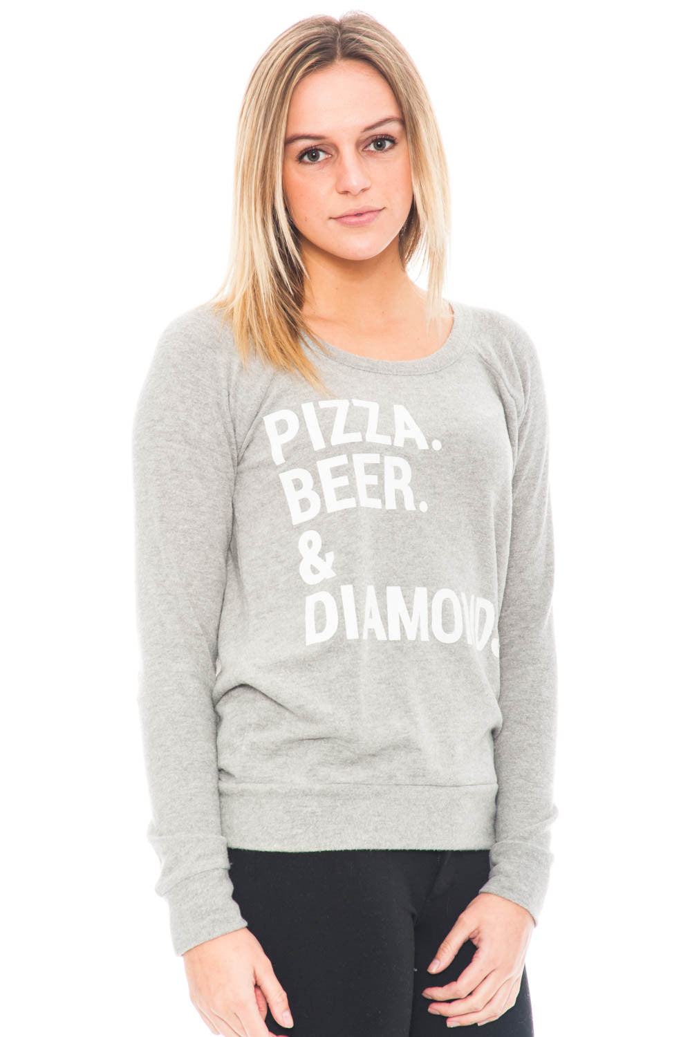 Sweater - Pizza Beer & Diamonds Crewneck with Open Back by Chaser