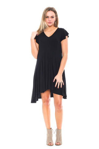 Dress - Jersey Keyhole High Low Dress by Paper Crane