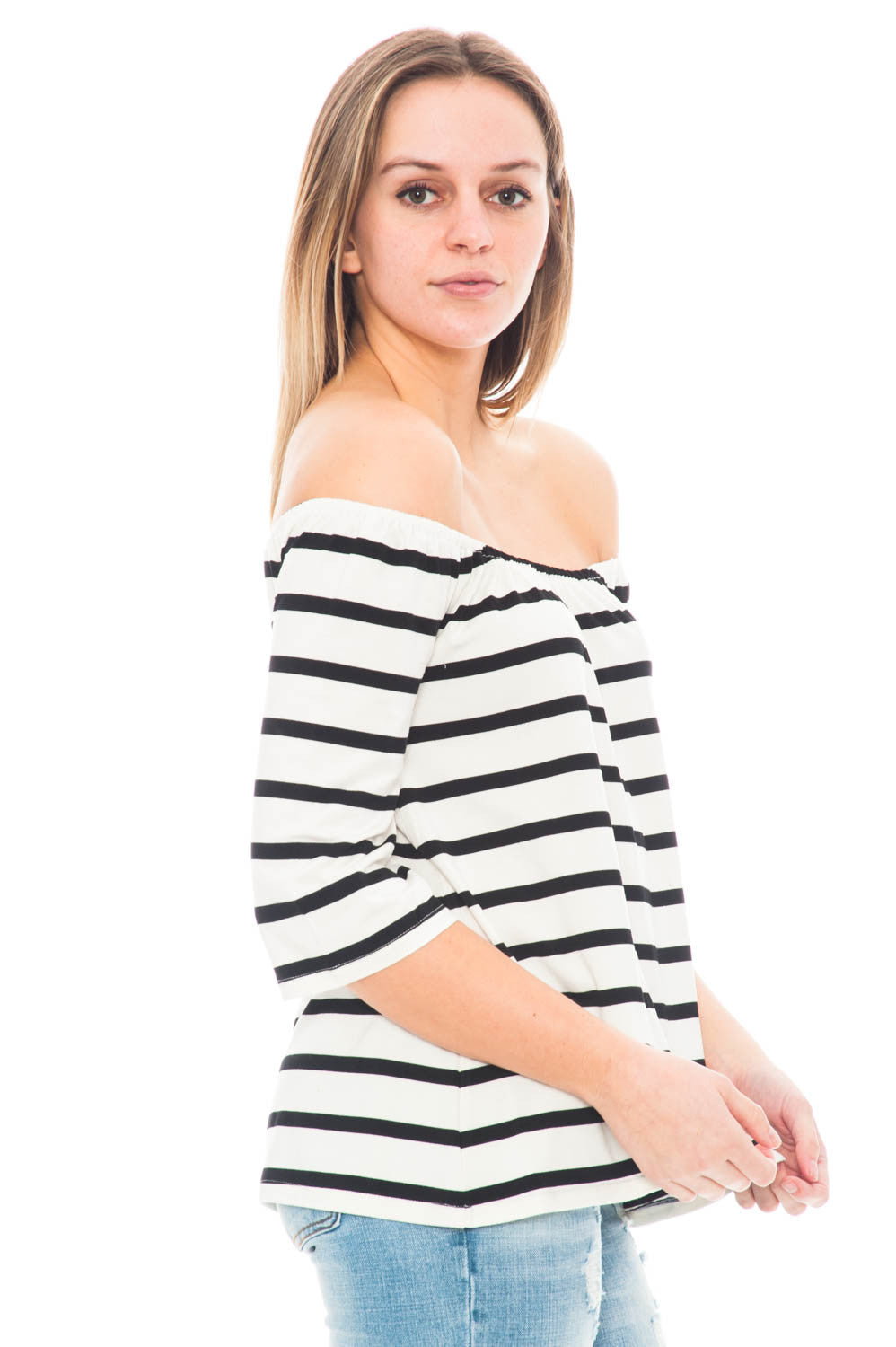 Shirt - Geri by BB Dakota Off Shoulder Top