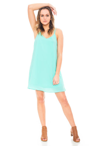 Dress - Summer Joy V-neck Dress with Criss Cross Back Straps