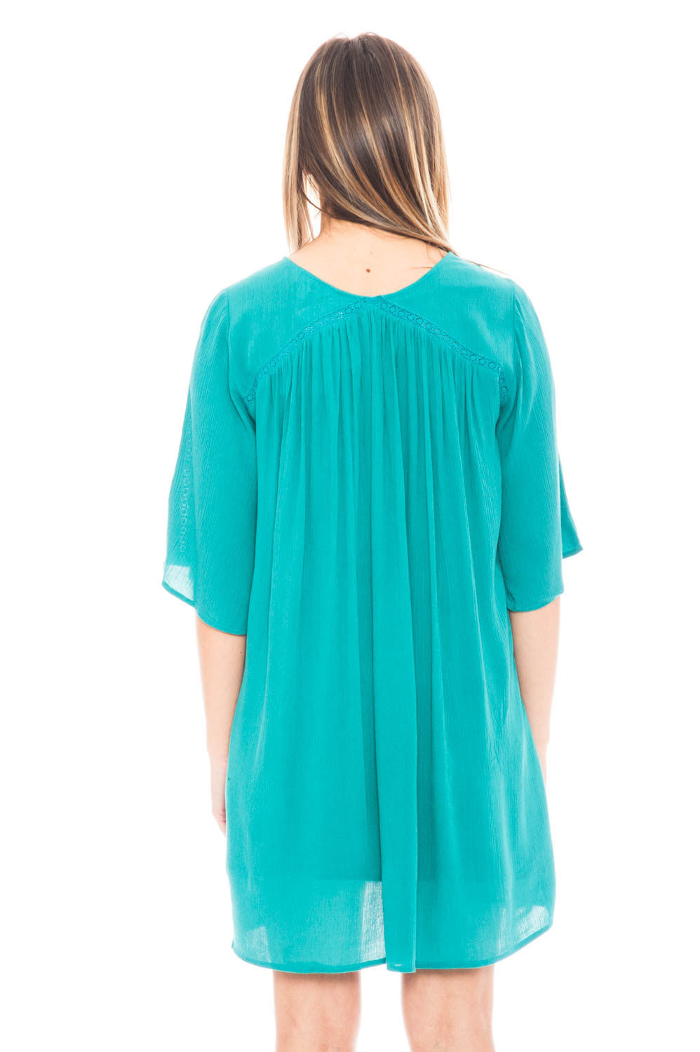 Dress - BB Dakota Chiffon Dress with Lace Up Front