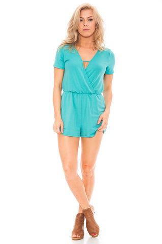 Romper - Ultra Soft V-Neck Front Romper by Everly