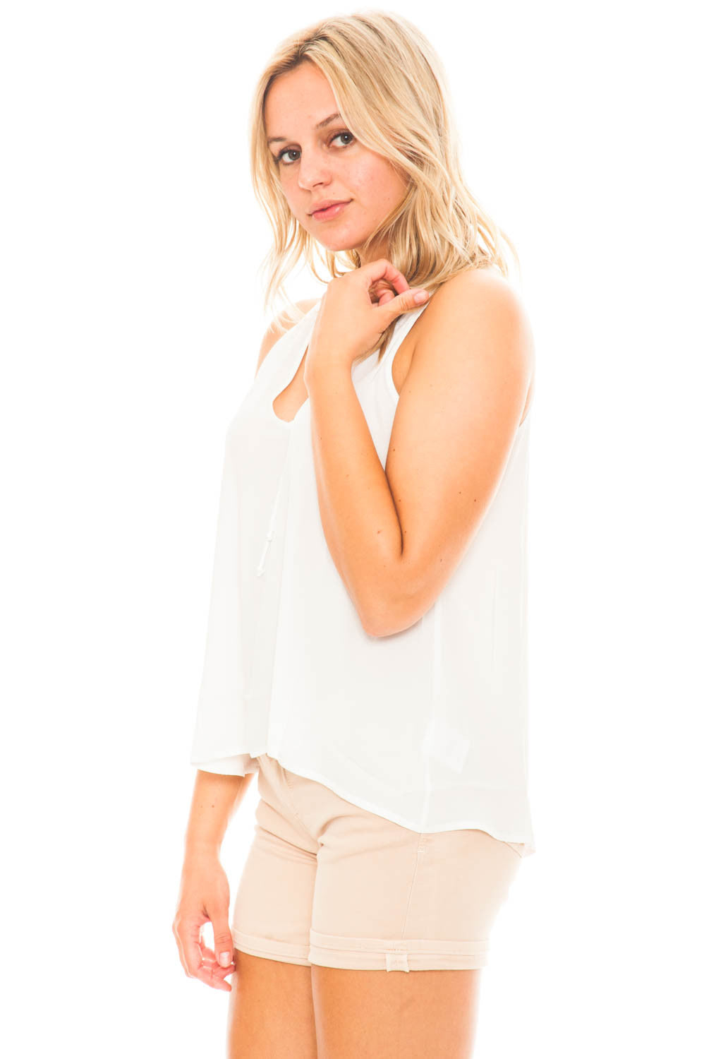 Shirt - Sleeveless Chiffon Tank by Lush