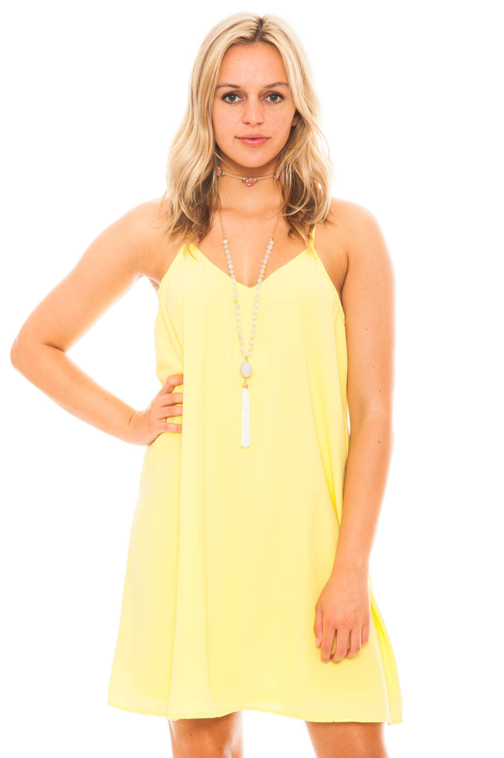 Dress - Simply Summer V-neck Chiffon Dress
