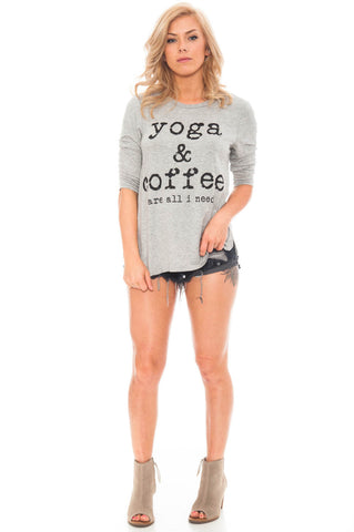 Tee - Yoga & Coffee Are All I Need Top