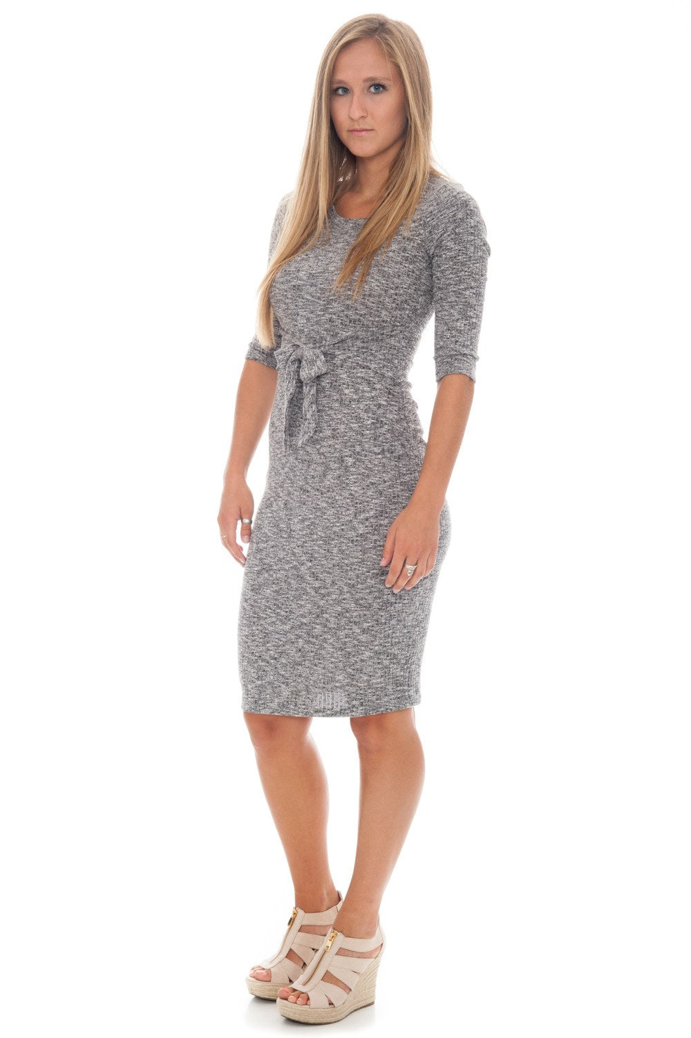 Dress - Midi with Tie - 2