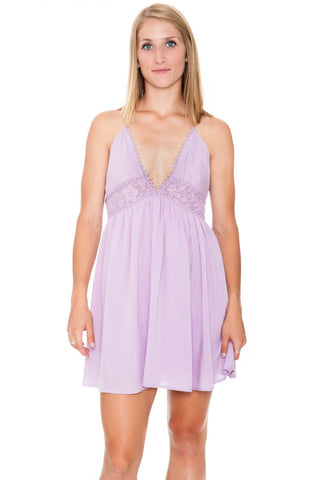 Dress - Lilac Boho Peek-a-Boo (Final Sale)