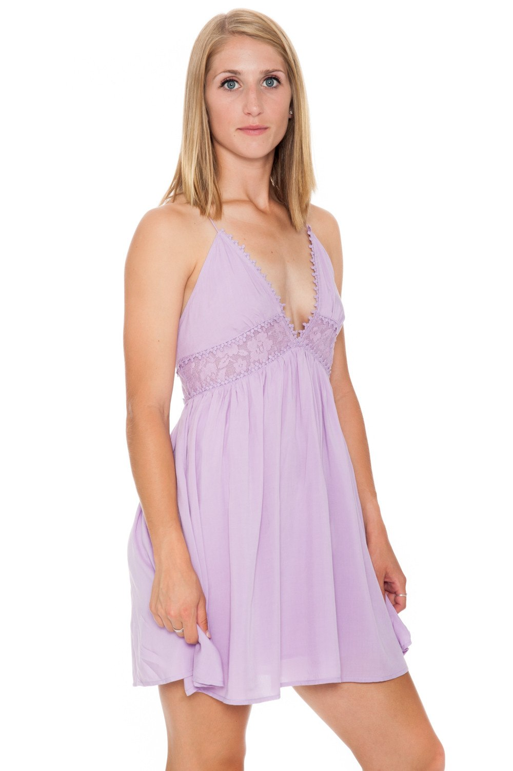 Dress - Lilac Boho Peek-a-Boo - 2