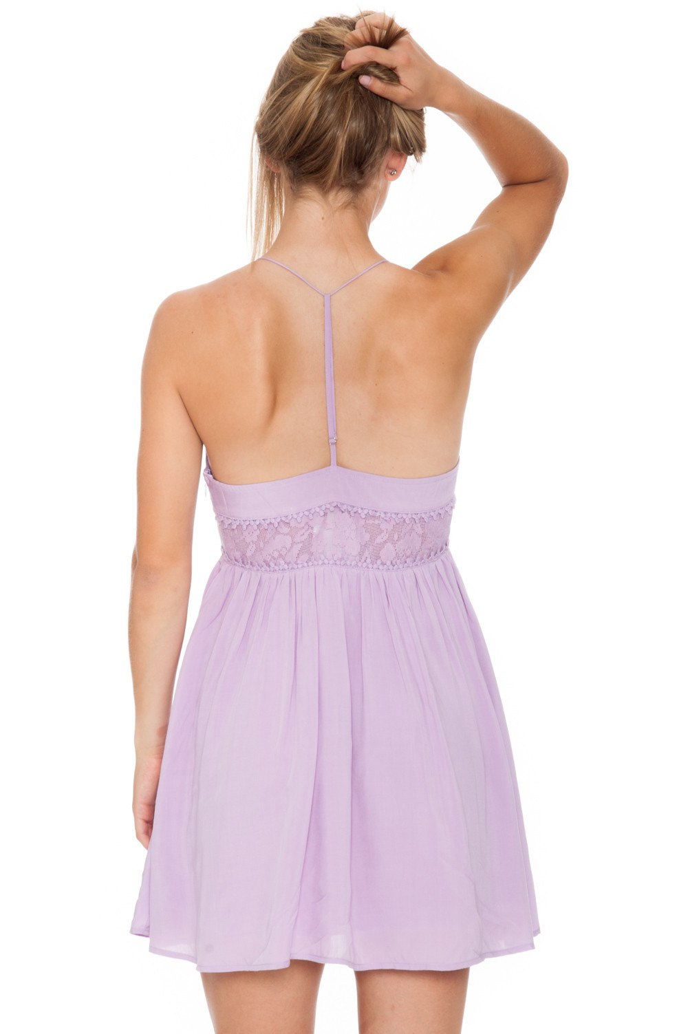 Dress - Lilac Boho Peek-a-Boo - 3