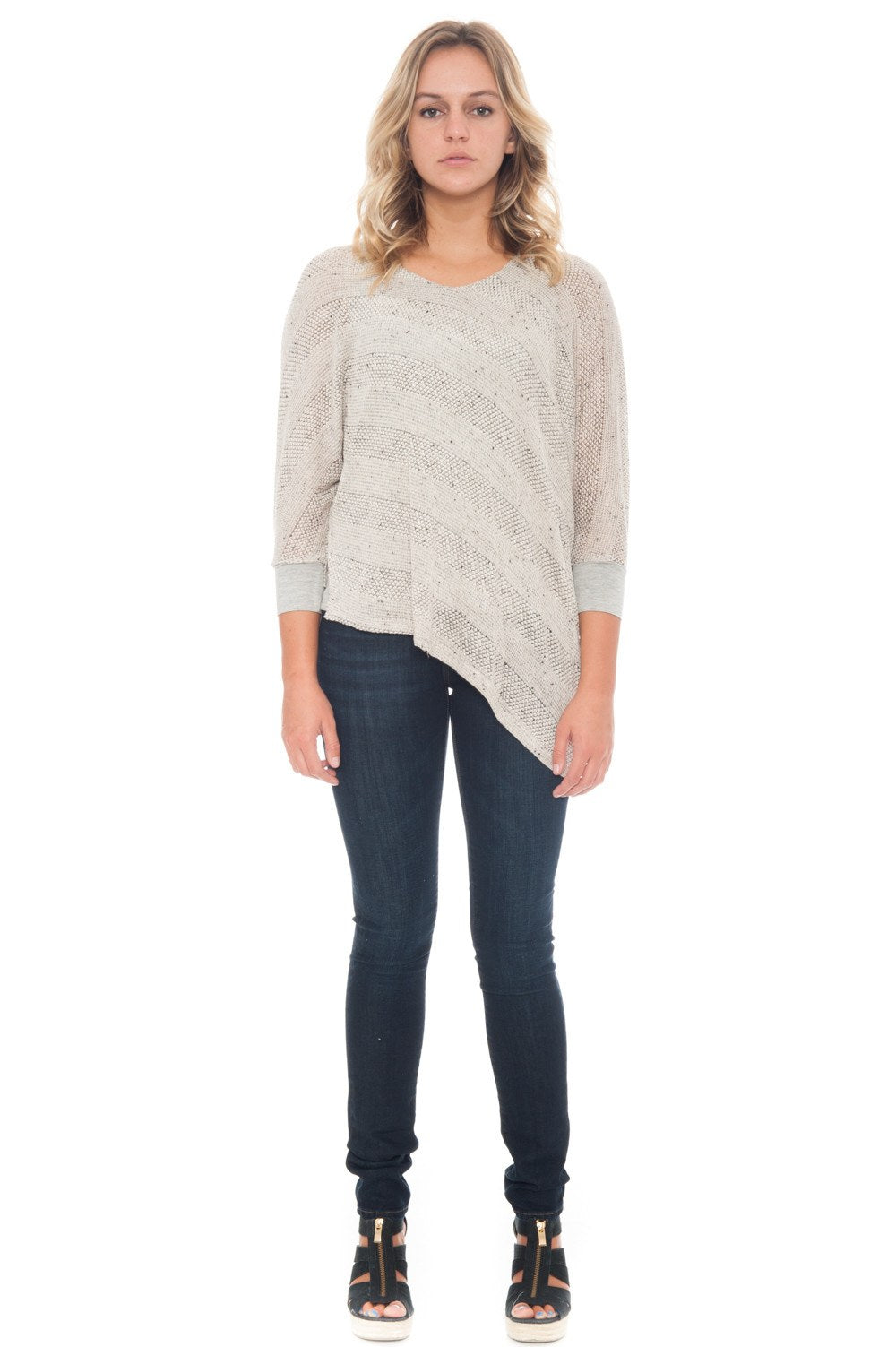 Blouse - Knit with Asymmetrical Hem - 2