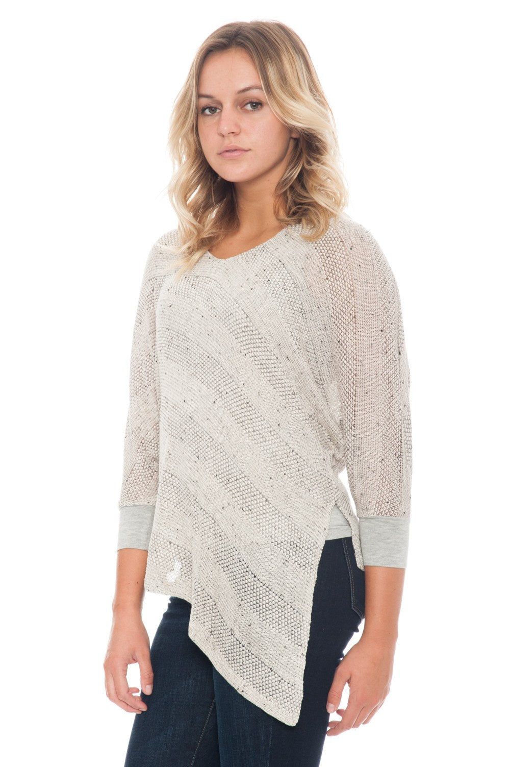 Blouse - Knit with Asymmetrical Hem - 1