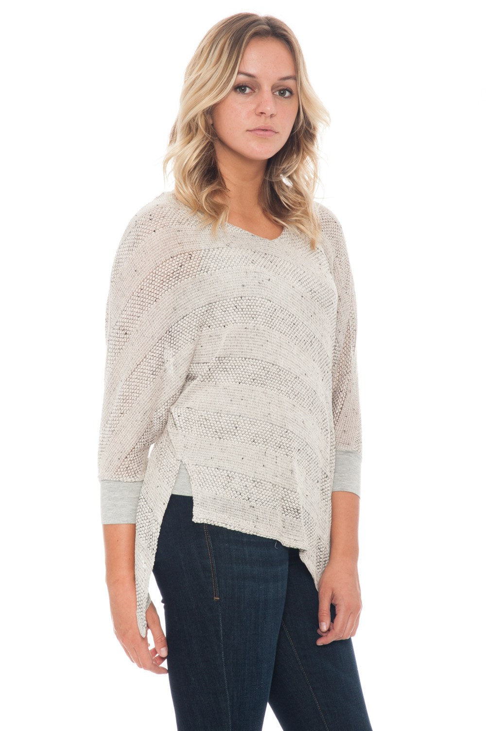 Blouse - Knit with Asymmetrical Hem - 3