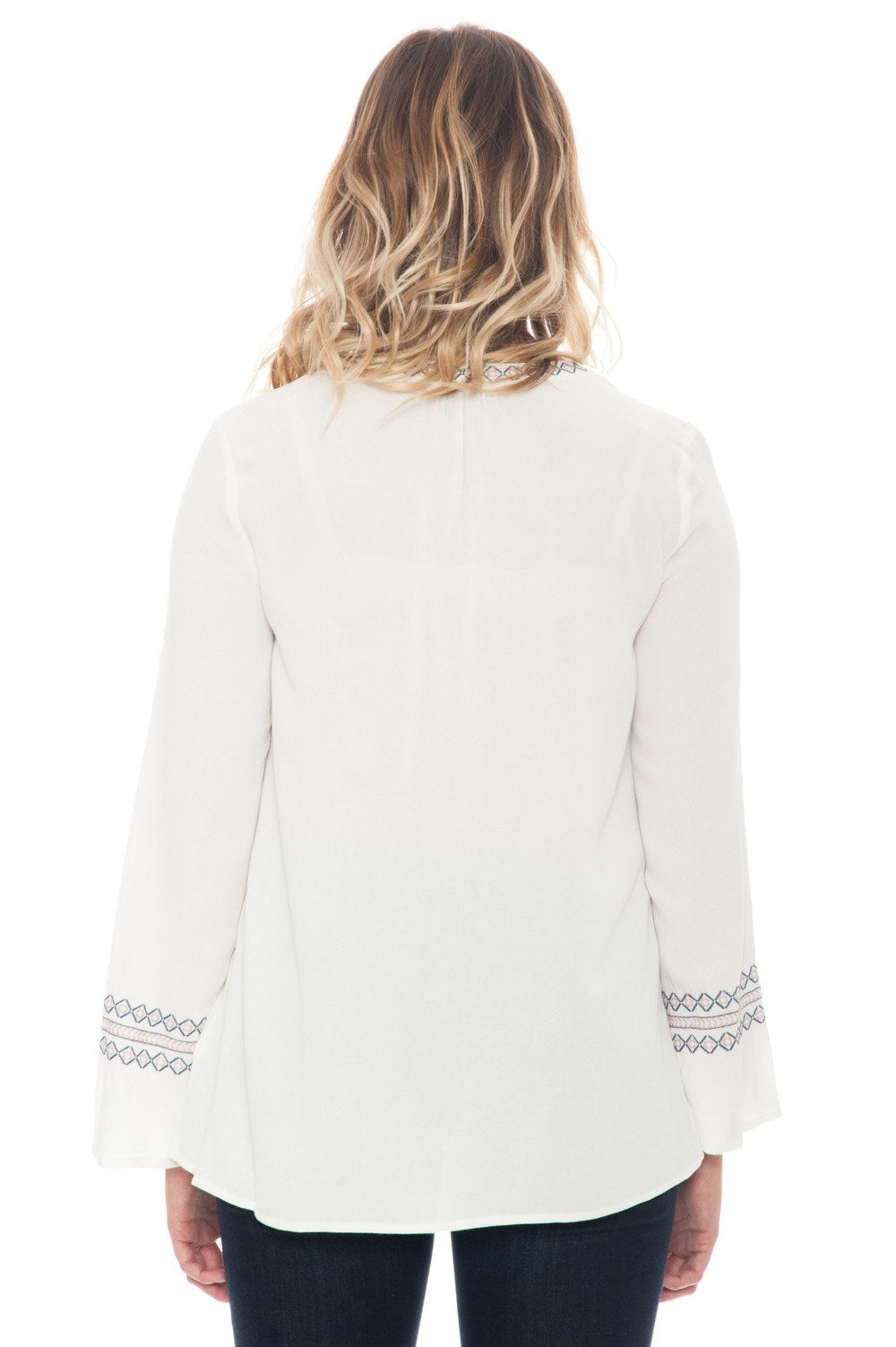 Blouse - Lace Up with Sleeve Detail - 4