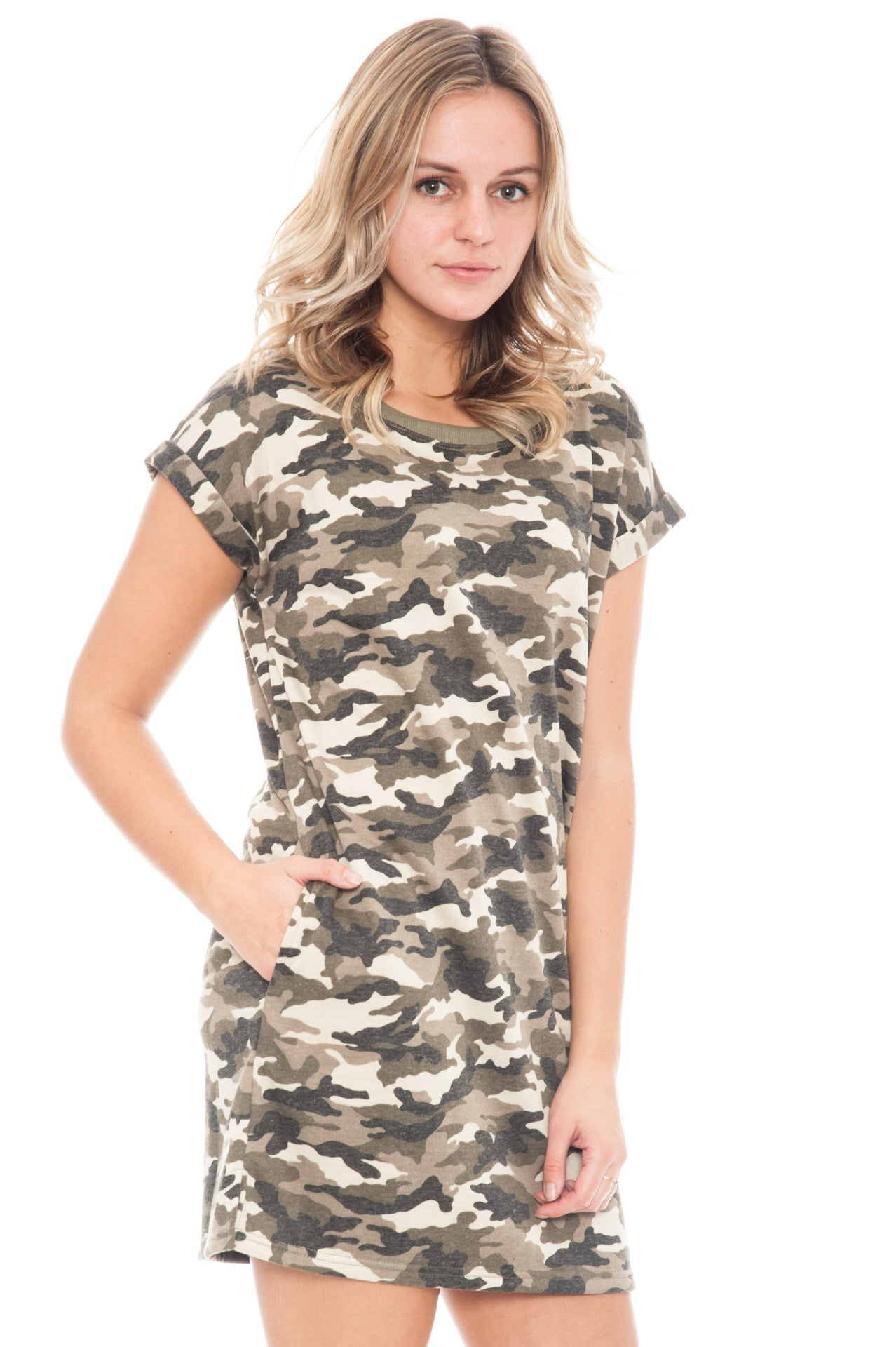 Dress - Camo T-shirt by Ellison