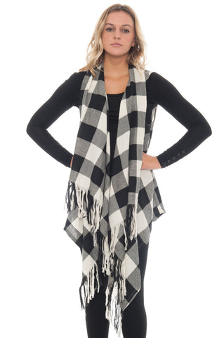 Vest - Fringe Checker (Final Sale)