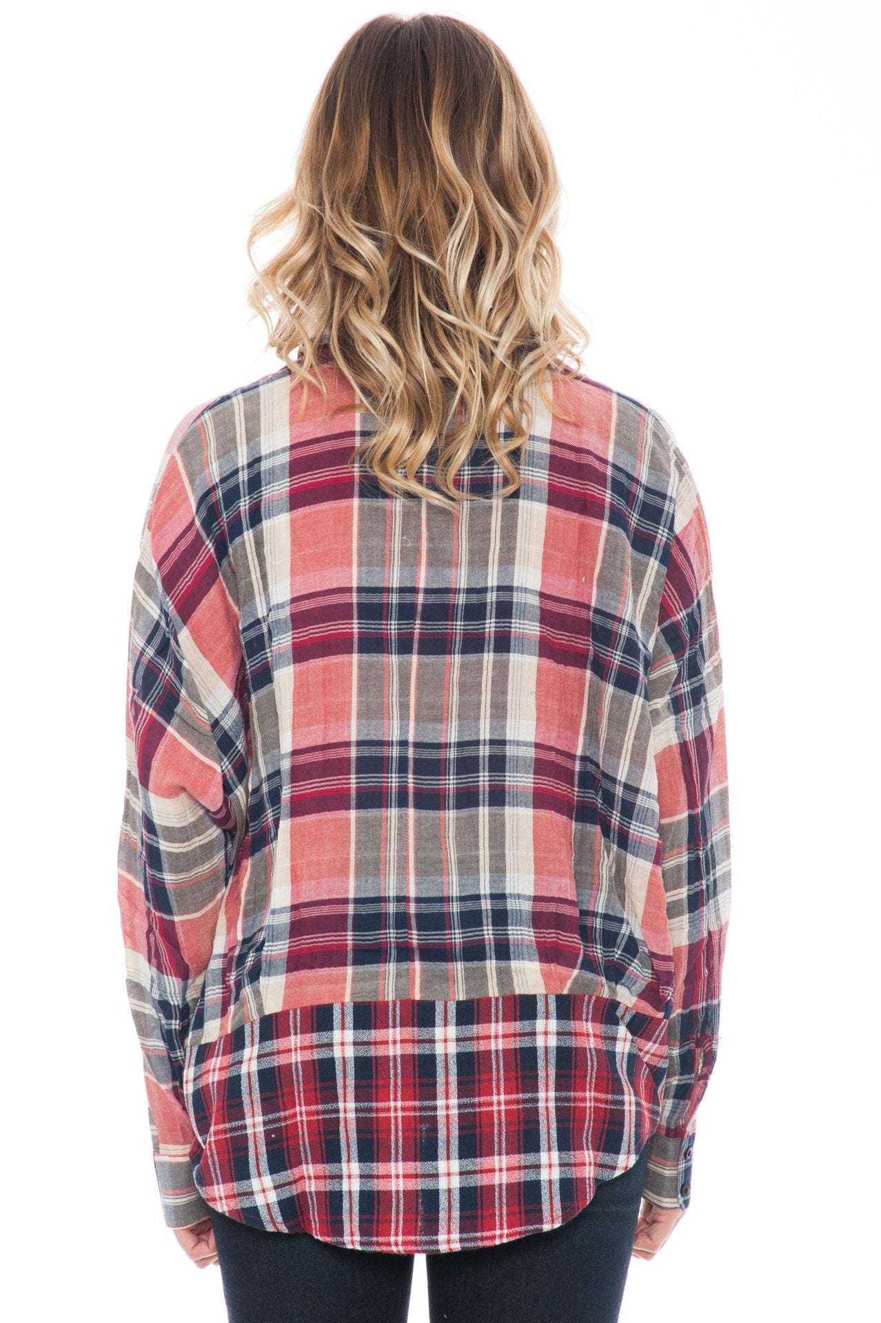 Top - Plaid Button Up Flannel By Paper Crane (Final Sale)