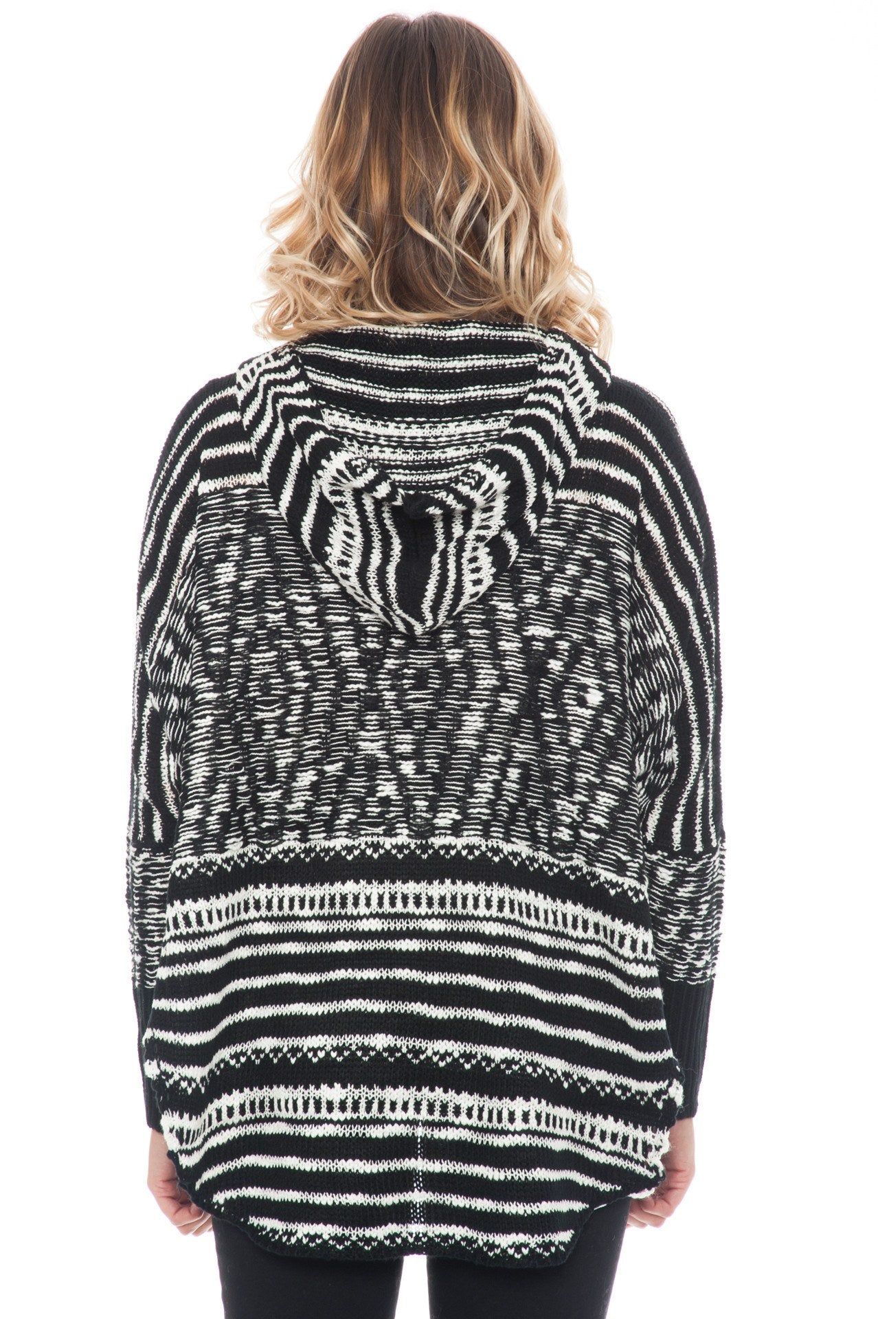 Sweater - Hooded Dolman Knit Top By Paper Crane (Final Sale)